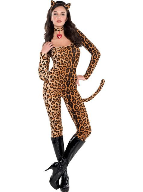 Leopard Catsuit Costume For Women Party City Catsuit Costume Costumes For Women Cheetah Costume
