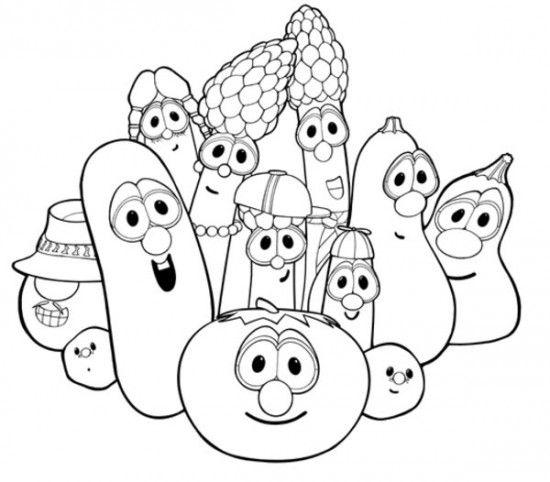 Veggie Tales Color pages Pinterest Veggie tales Sunday school