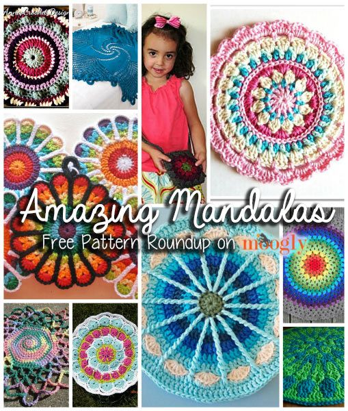 Amazing mandalas for home decor and more free crochet pattern roundup on moogly crochet Crochet home decor pinterest