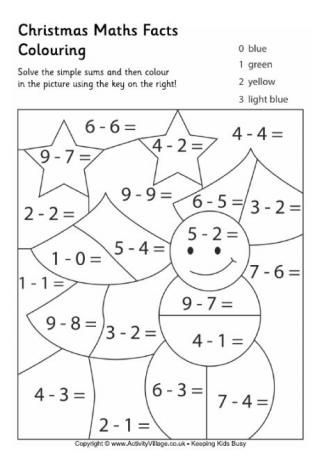 Maths Facts Colouring Pages Christmas Math Worksheets Christmas Math Activities Christmas Math