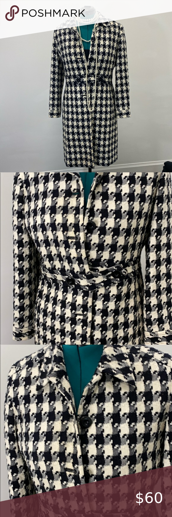 Signature by Larry Levine long jacket coat Long button down jacket. Very warm and chic. Signature by Larry Levine Jackets & Coats Trench Coats