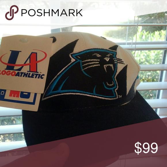 b9f36cdea Vintage Carolina Panthers Snapback Hat Sharktooth NOS with Tags ...