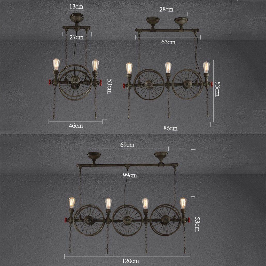 Modeen Industrielle Vintage Pendelleuchte Metall Wasserpfeife Lampe ...
