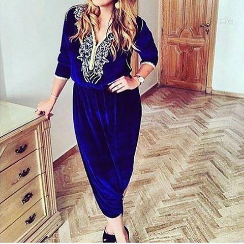 #Combinaison#Morockinstyle#moroccangirl#Morocco#beldi#romi#moroccostyle#proudlymoroccan#lebssa#beautiful#blue#inspiration