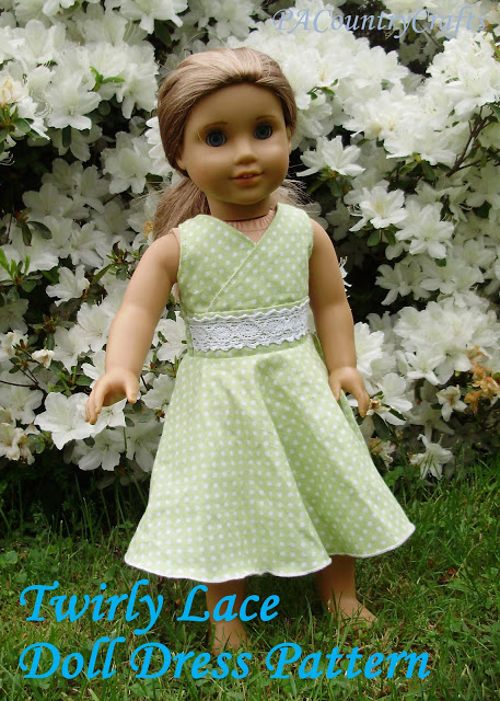 Twirly Lace Doll Dress Pattern — PACountryCrafts #dolldresspatterns