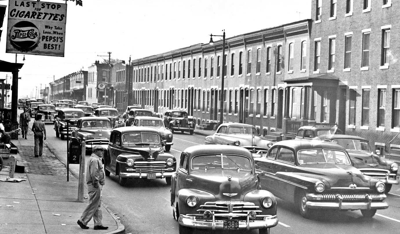 Camden new jersey street scene 1940s and 1950s cars | automobiles ...