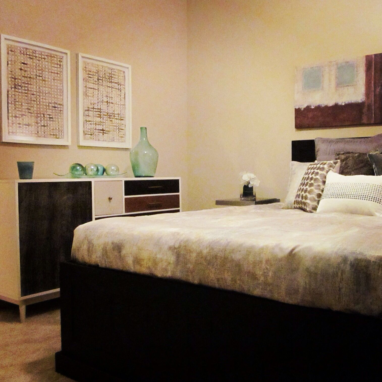 West Elm dresser, contemporary bedroom. Barbara Coulter ...