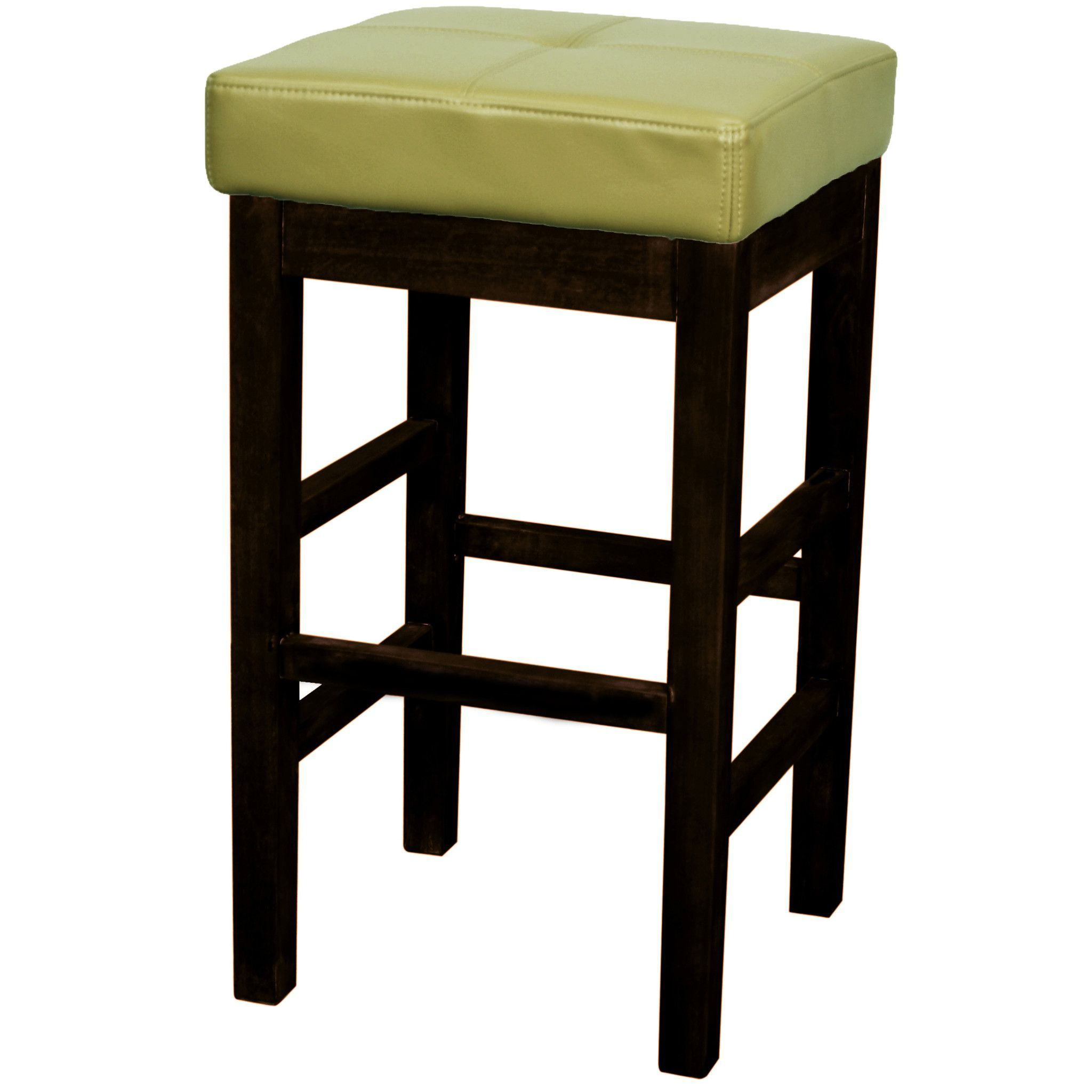 Backless Leather Counter Stool Wasabi ~ Cojines Para Taburetes De Cocina