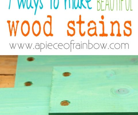 Make Wood Stain 7 Ways A Piece Of Rainbow Staining Wood Girl Scout Crafts Easy Wood