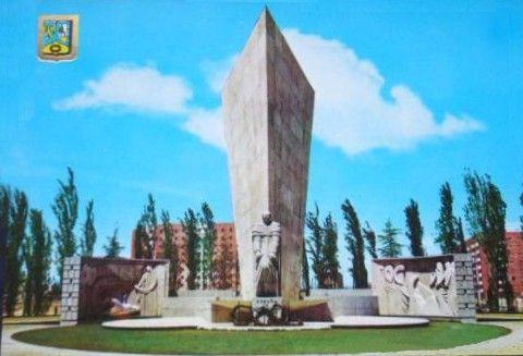 MONUMENTO A CALVO SOTELO EN LA PLAZA DE CASTILLA - 1970