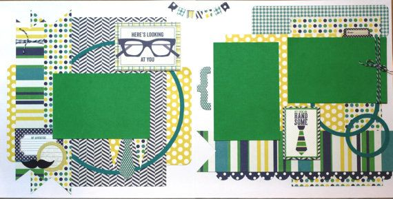 Happy Birthday- premade scrapbook pages, 12x12 scr