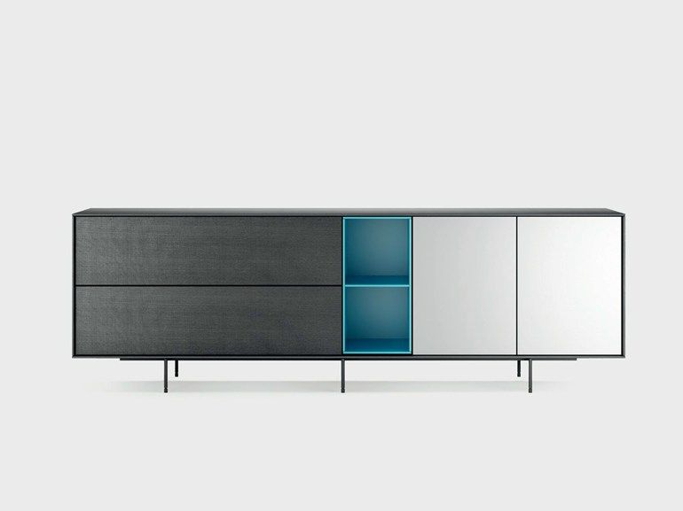 Highboard schlafzimmer ~ Lacquered solid wood sideboard aura s9 2 aura collection by treku