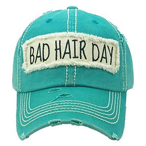 Vintage Hat Bad-Hair-Day Dad Embroidered Baseball-Cap Distressed