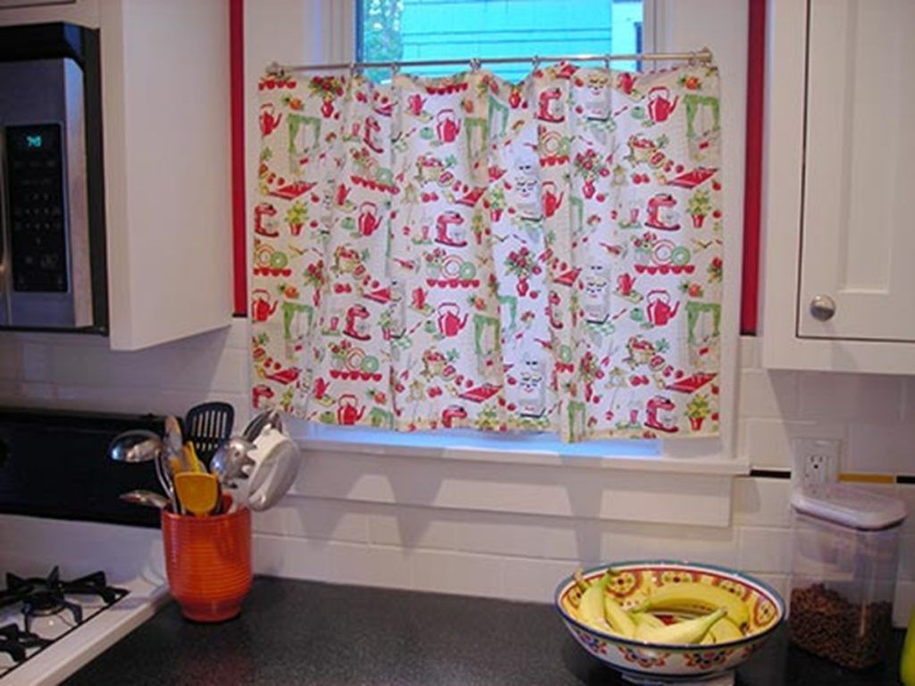 retro kitchen curtains design home design ideas picture gallery ... for Vintage Kitchen Window Treatments  181pct