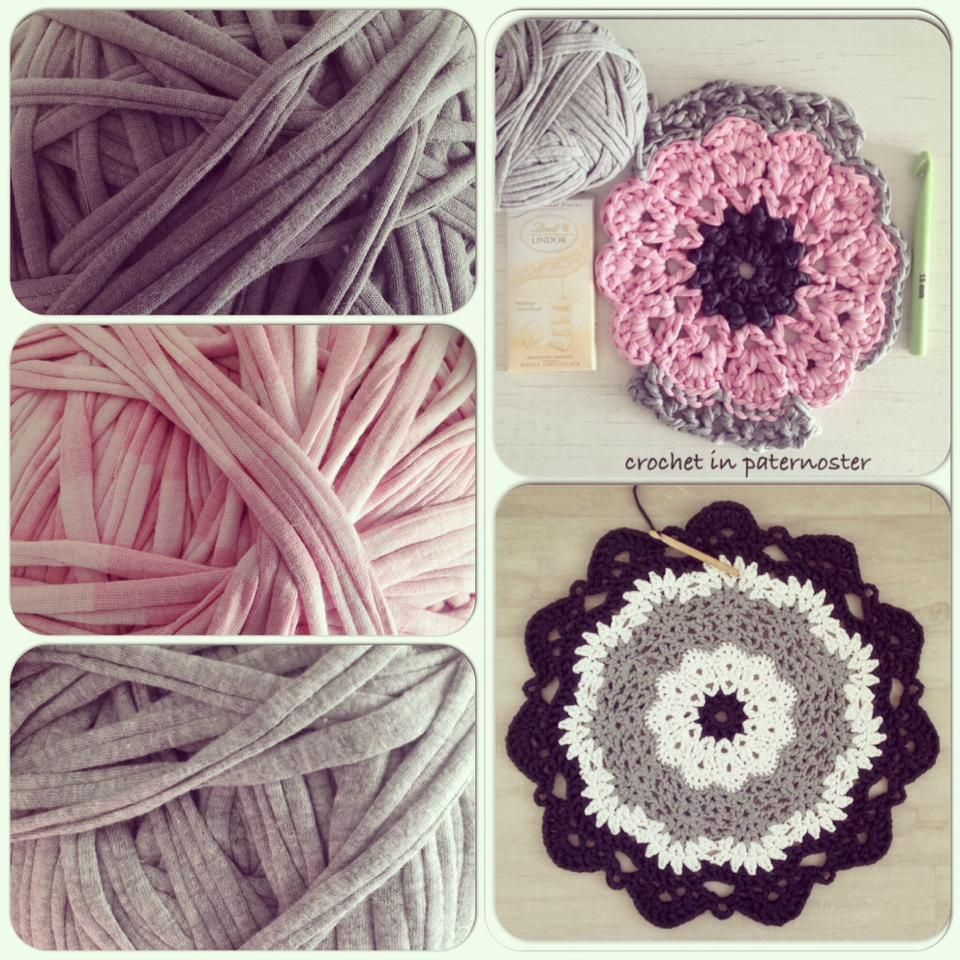 Doily Rugs With T Shirt Yarn Crochet Rug Patterns Crochet Crafts Doily Rug