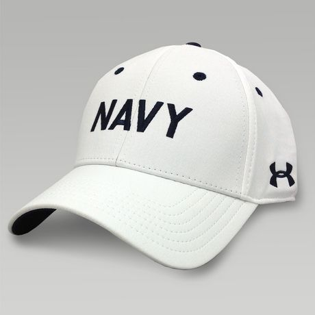 Navy Under Armour Rivalry Renegade Hat (White)  7830dd102ee