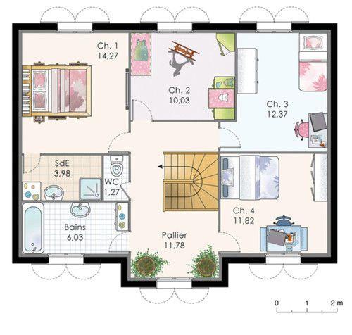 Construction · Plan Habillé Etage   Maison ...