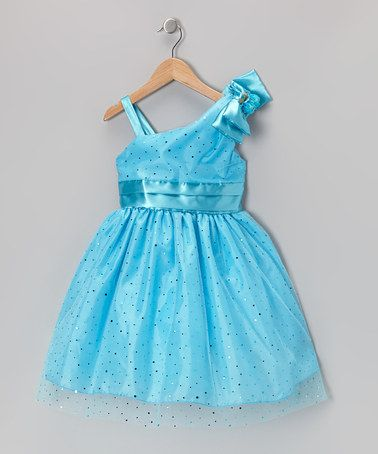 cb22bd0e0 Take a look at this Turquoise Sequin Asymmetrical Dress - Toddler ...