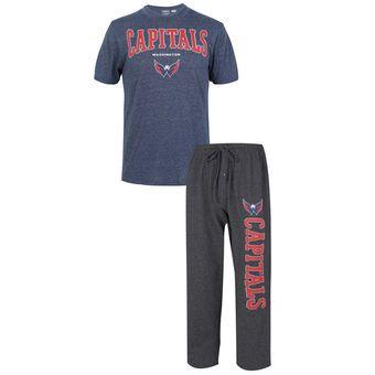 eda9dd06acf Men s Washington Capitals Concepts Sport Charcoal Navy Quest Top and Pants  Set