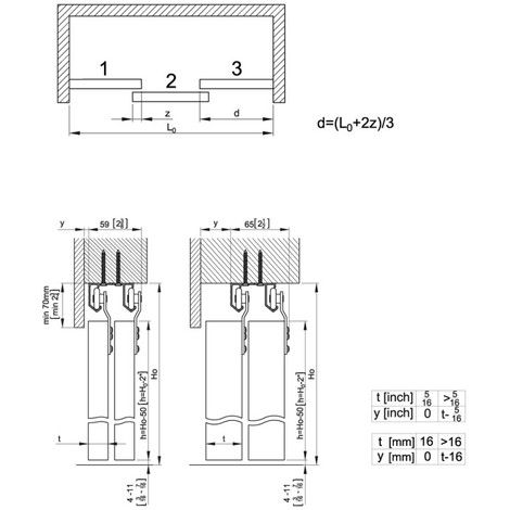 photo Système porte coulissante HORUS pour 2 portes de placard - rail porte de placard coulissante