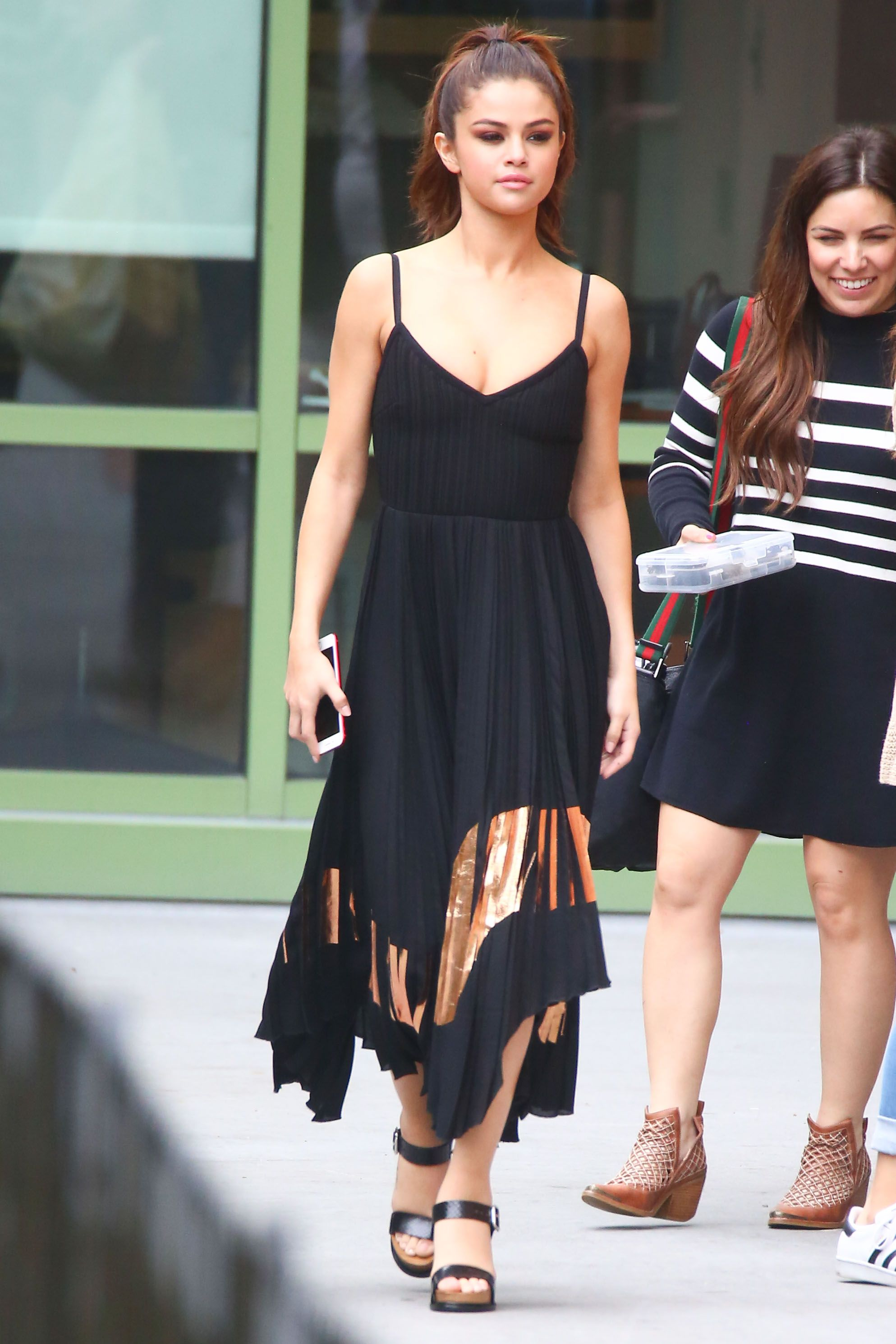Stunning Selena Gomez out and about with her Tod's sandals.#Tods