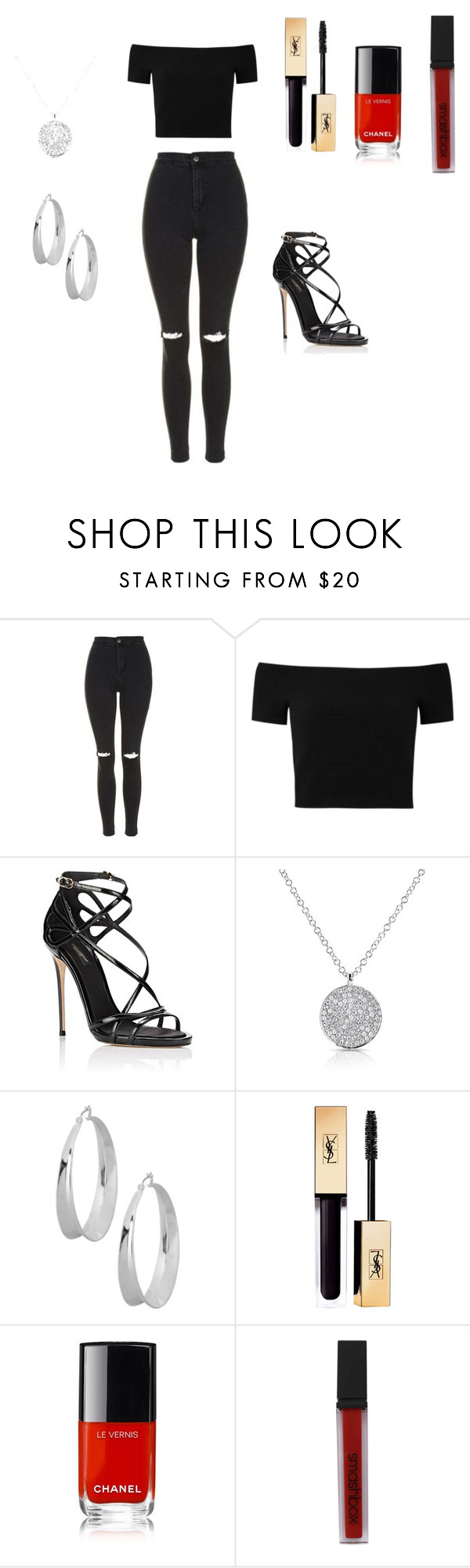 """clubbing"" by savannah-elise-beerman on Polyvore featuring Topshop, Alice + Olivia, Dolce&Gabbana, Robert Lee Morris, Chanel and Smashbox"