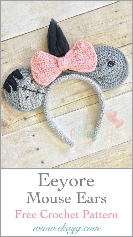 Eeyore Mouse Ears, Free Crochet Pattern | Disneybound | Pinterest ...