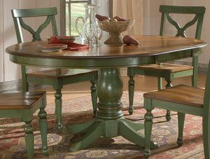 Round Dining Set For 4 | Sidney Dining Room Set Green Country French Round  Table And 4 Chairs .
