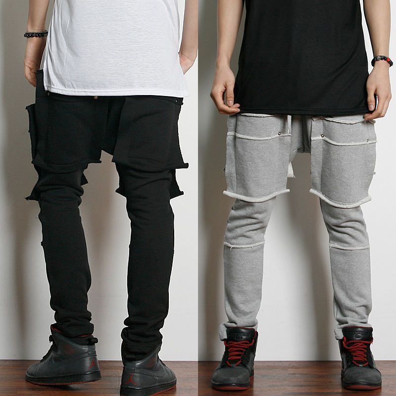 Remember Click Tiered Look Drawstring Pants BLACK GRAY ONE SIZE Korean Wear #RememberClick #CasualPants