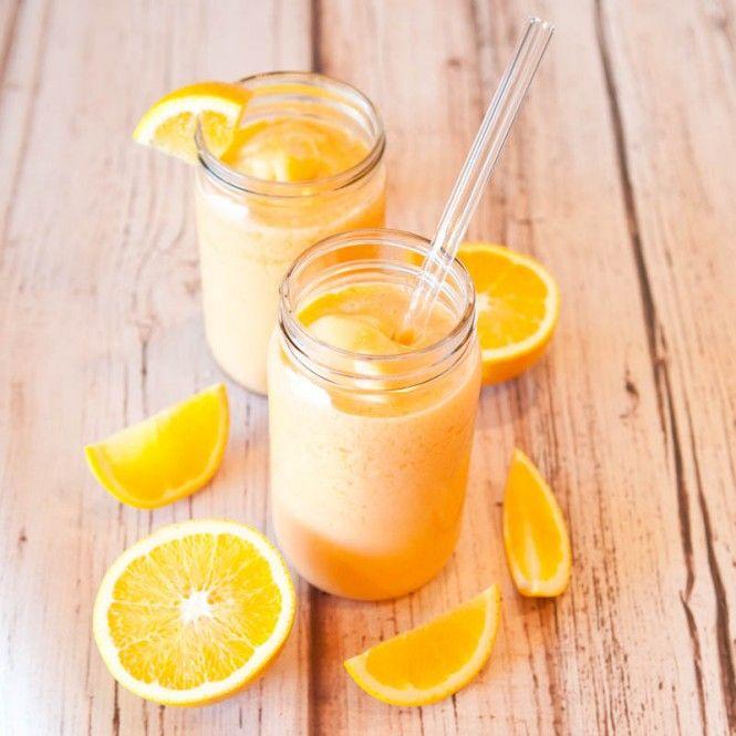 orange pushup smoothie. oh yeah.