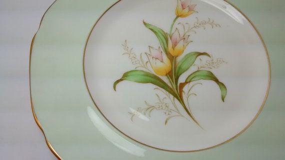 Paragon Vintage Bone China taza platillo plato por Mycousinrachel