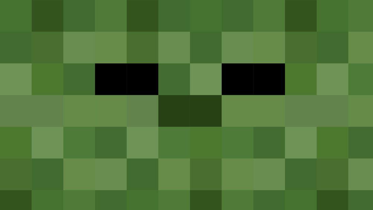 Minecraft Zombie Head  HD Minecraft Zombie Wallpaper by Karl-with