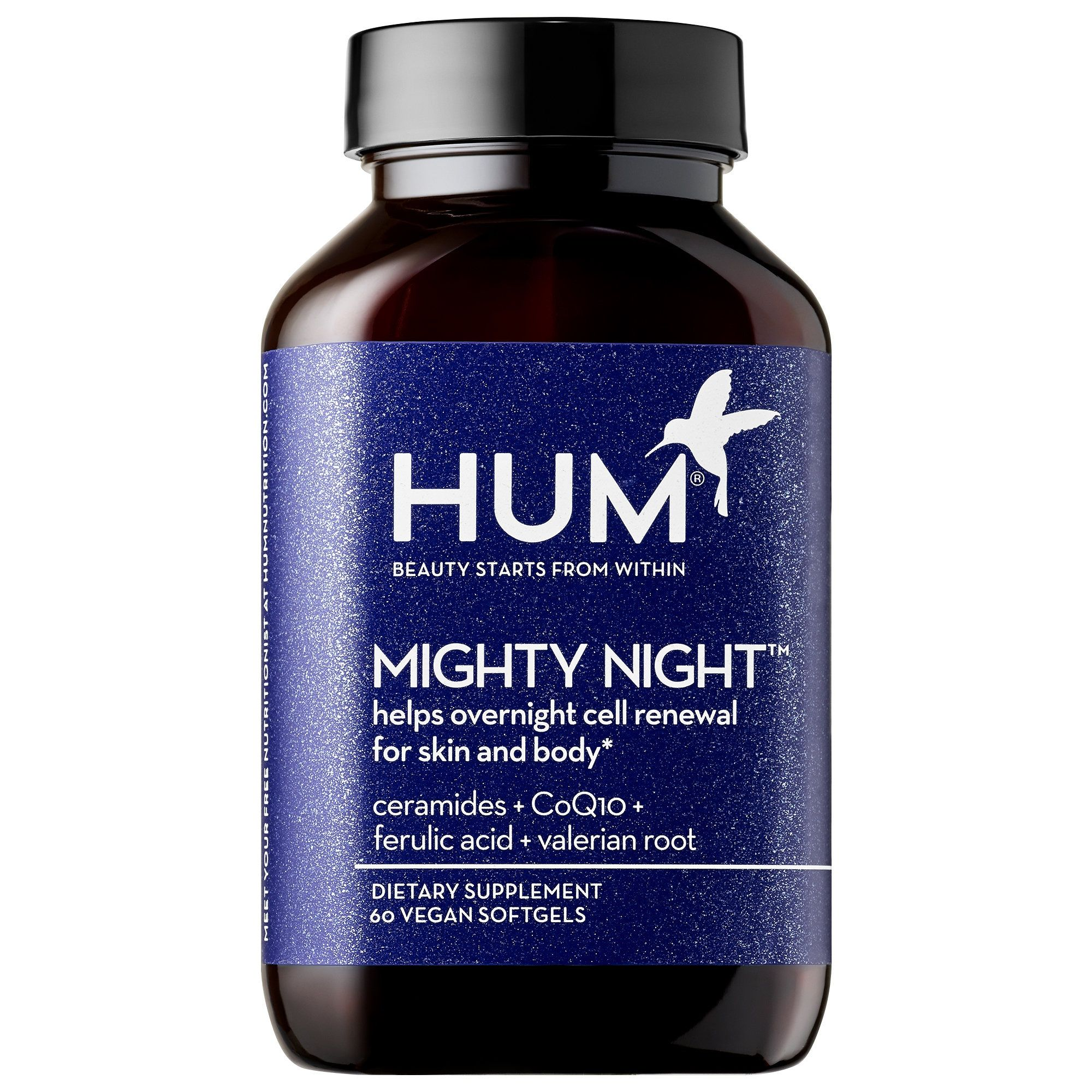 HUM Nutrition Mighty Night Overnight Renewal Supplement 60