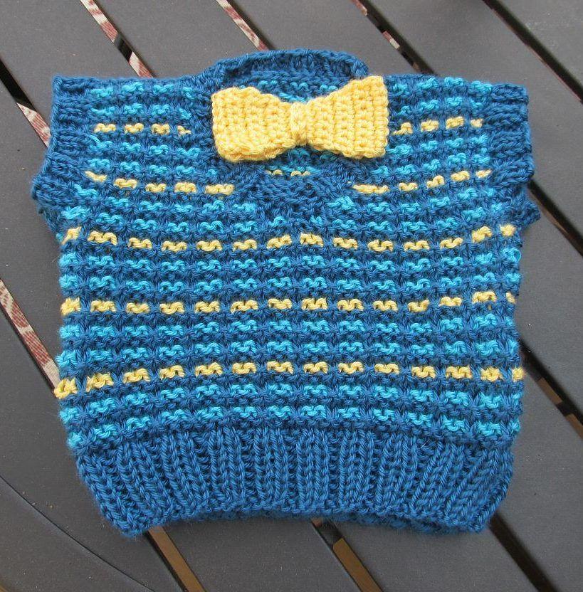 Free Knitting Pattern for Baby Slip Stitch Vest - Easy slip stitch ...