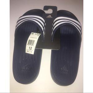 Adidas Duramo Blue White Slides Size 12 NWT