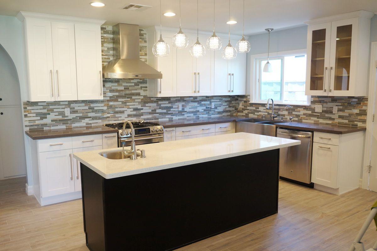No window kitchen sink  shaker style kitchen base cabinets  stribal  design interior