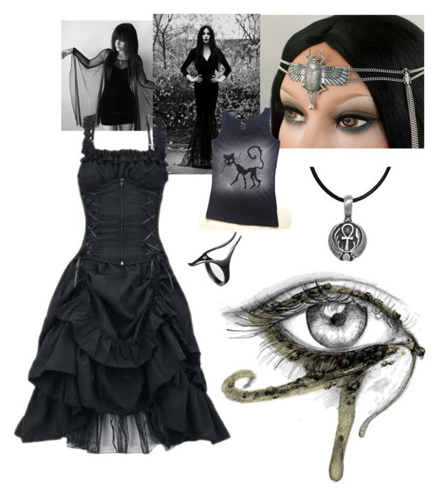 """Gothic egypt"" by cecilie-aa ❤ liked on Polyvore"