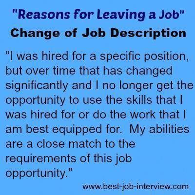 Reasons for Leaving a Job Healthy habits   tips for life