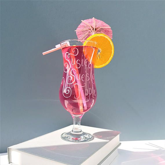 Personalised Cocktail Glass Pina Colada Hen Night Gift Ideas Great Ideas