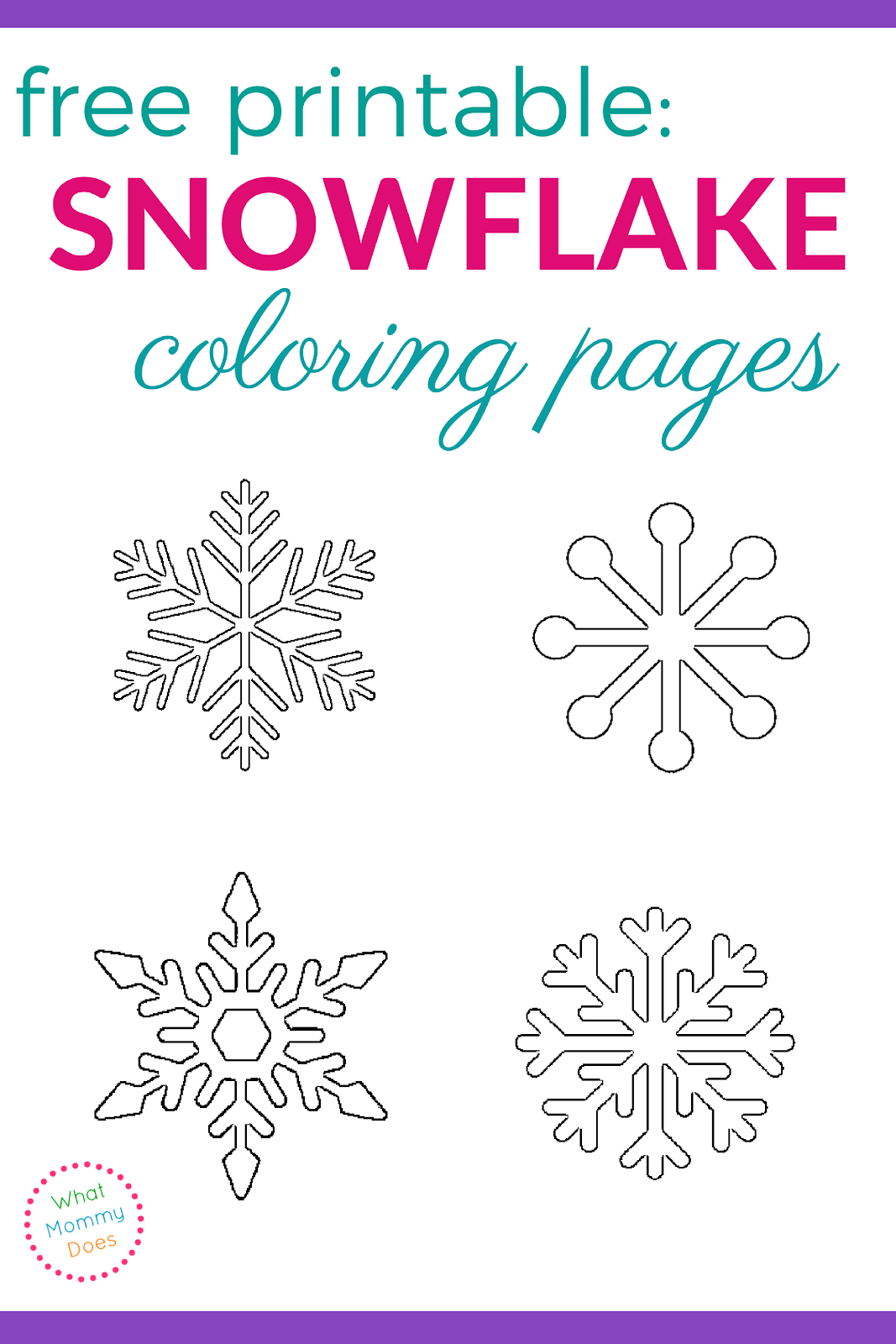Printable Snowflake Coloring Pages Snowflake coloring
