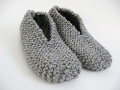 Pantoufle facile au tricot