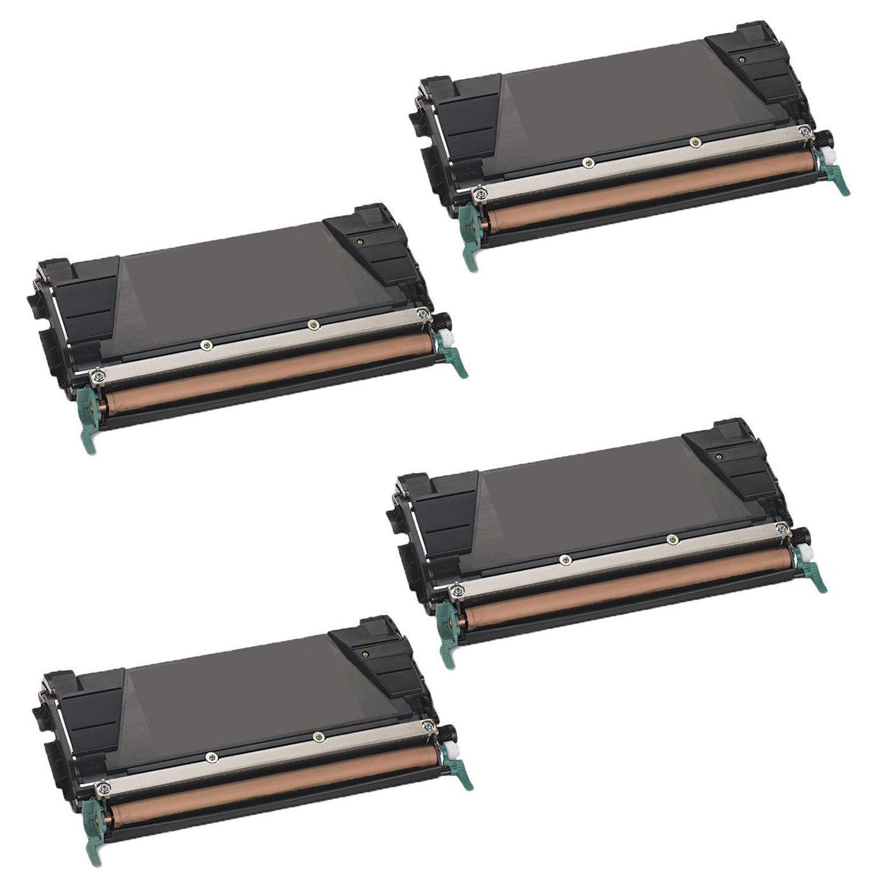 N 4PK Compatible C746H2KG Toner Cartridge For Lexmark C746DN C746DTN C746N C748DE C748DTE C748E