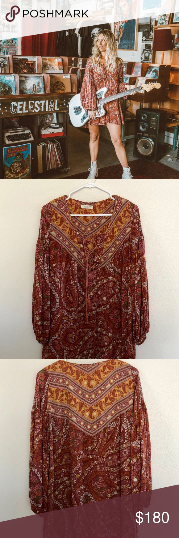 1913ee4cf71 Spell & The Gypsy City Lights Tunic Washed- 👌🏽 condition, sold out online  Spell & The Gypsy Collective Dresses