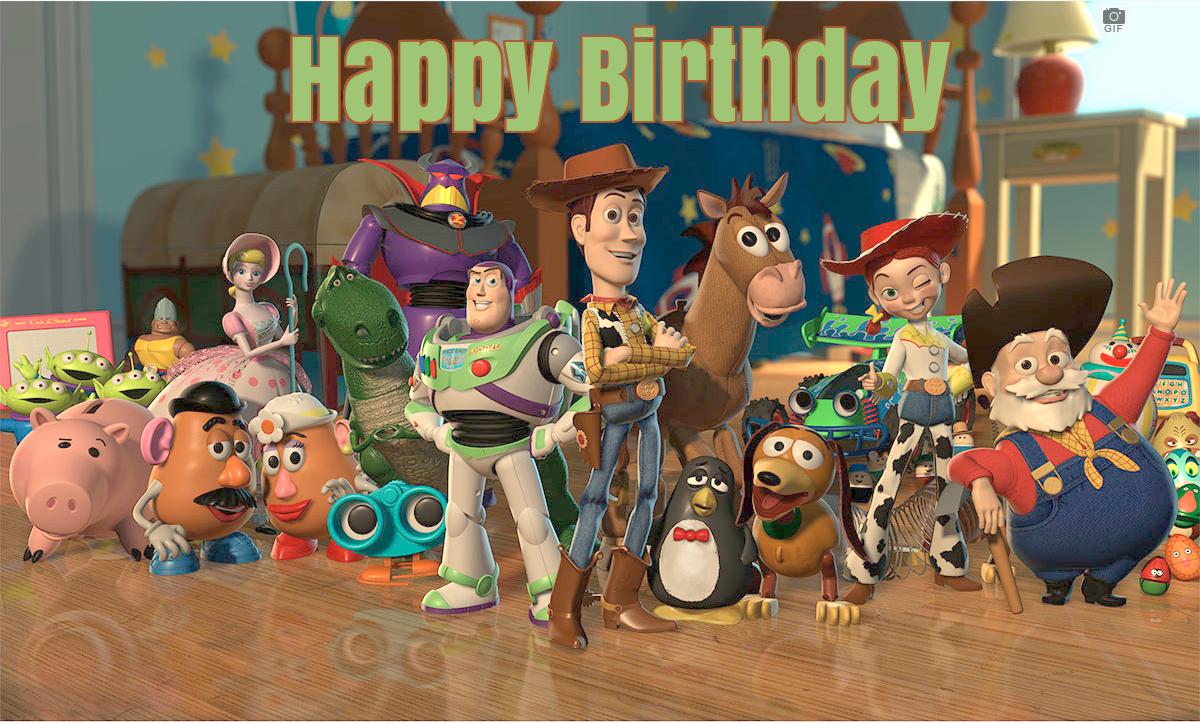Toy Story 4 Birthday Ecards Happy Birthday Ecard 4th Birthday Birthday Ecards