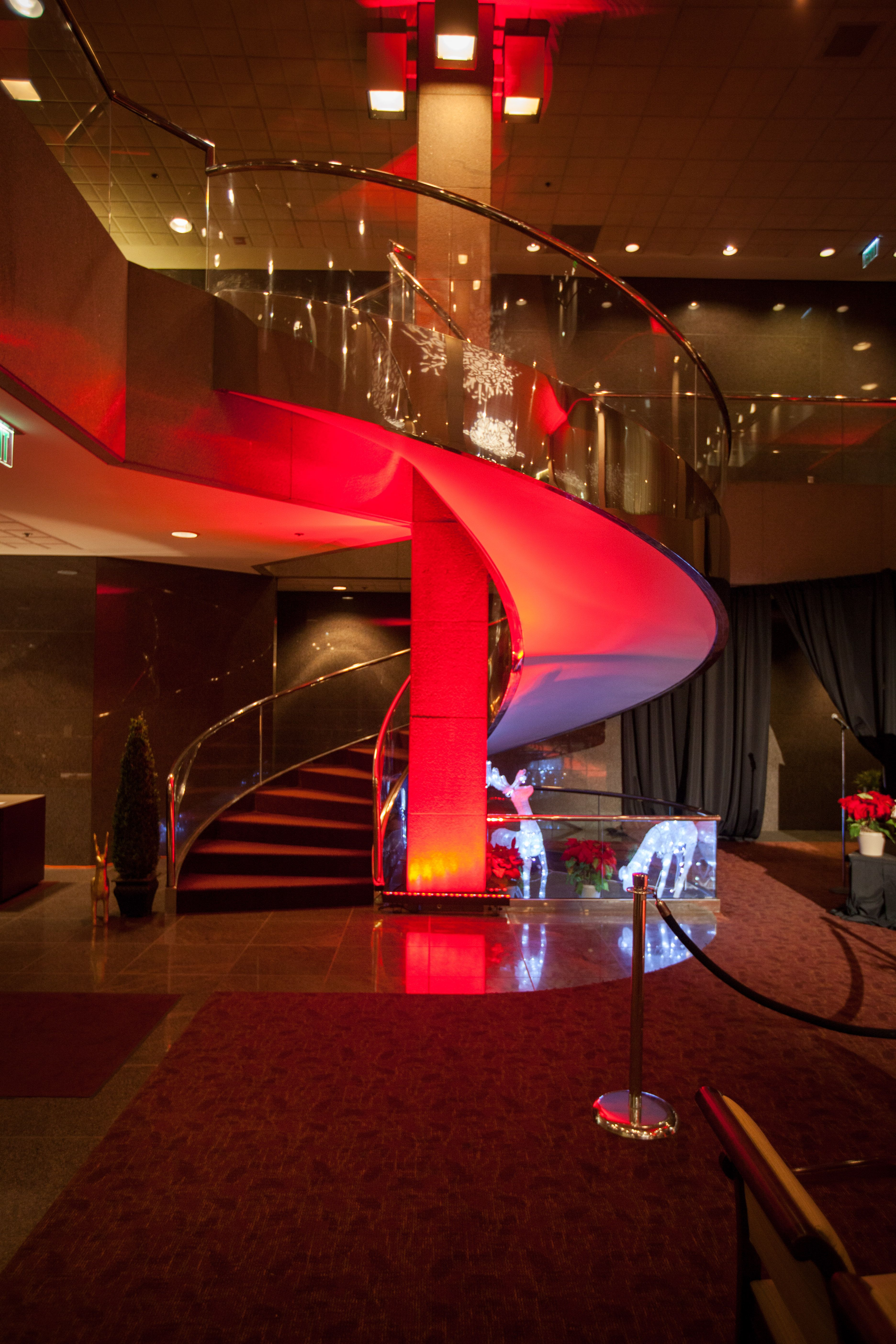 Grand Spiral Staircase Holiday Event