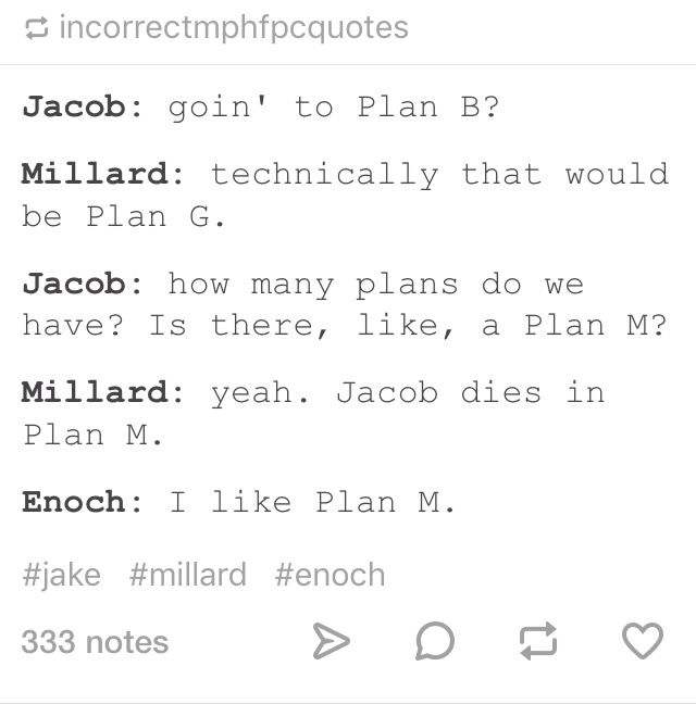 tumblr post miss peregrines home for peculiar children - mph resume