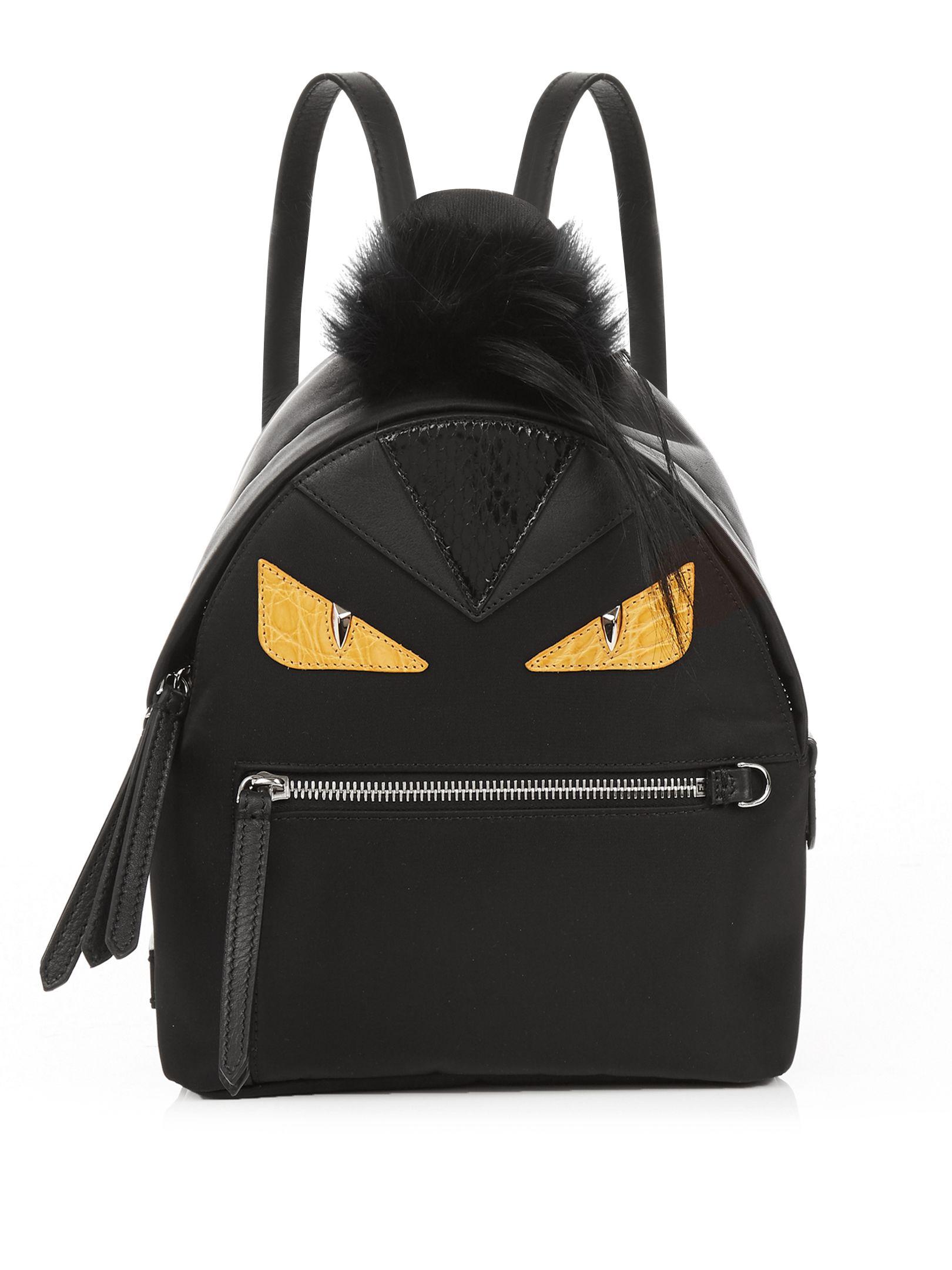 79920a8eb5 Click here to buy Fendi Bag Bugs mini nylon and fur backpack at  MATCHESFASHION.COM