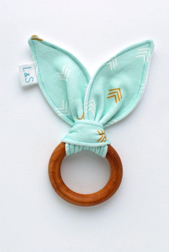 organic wood teething ring by LolaandStella, $12.00