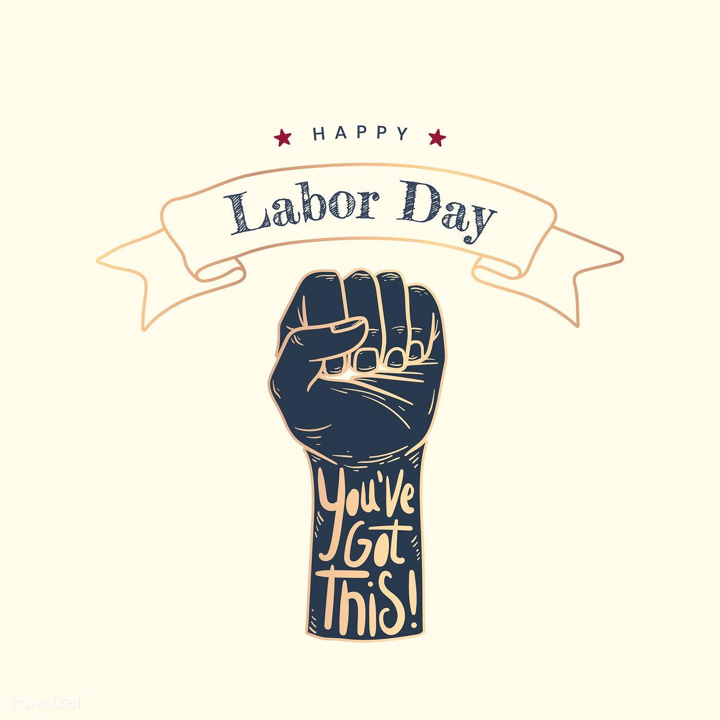 Happy Labor Day power fist vector   free image by rawpixel.com #happylabordayimages