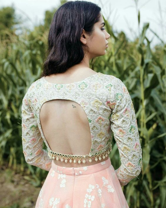 7 Stellar Choli Cut Blouse Designs For All The Bridesmaids-to-be